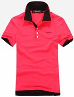 红色双领t恤