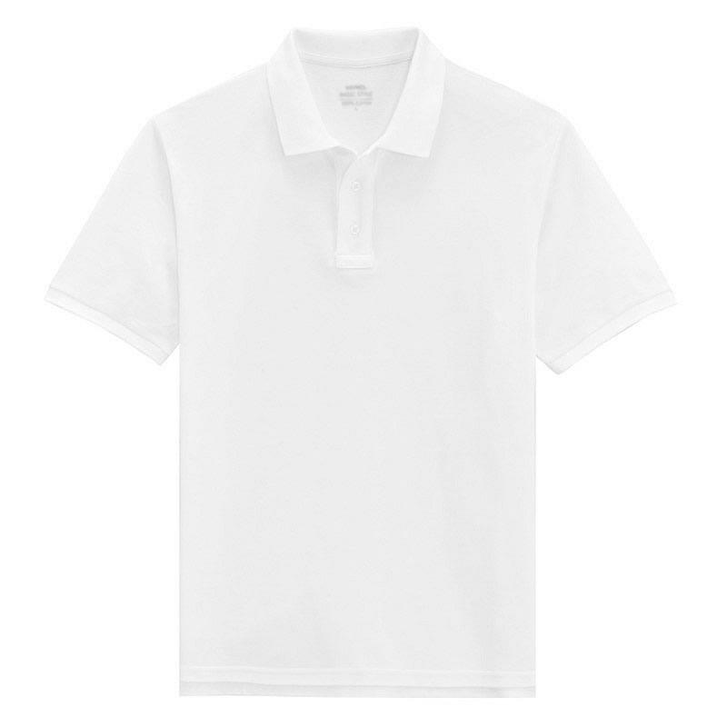 > 【定制】白色经典polo衫男士短袖定制-保罗服装提供