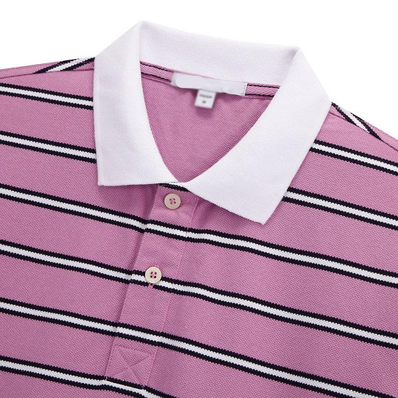细条纹POLO衫