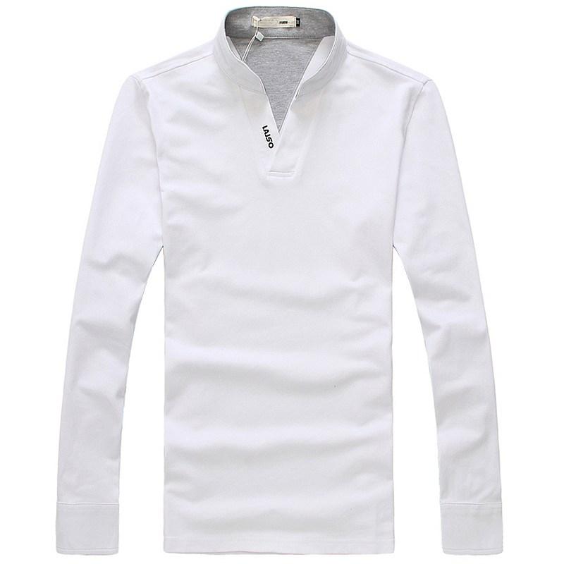 长袖V领T恤衫