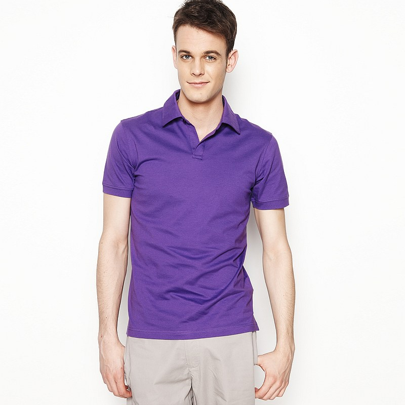 紫色POLO衫