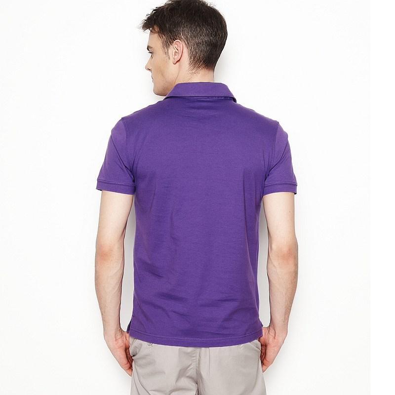 男士紫色T恤衫