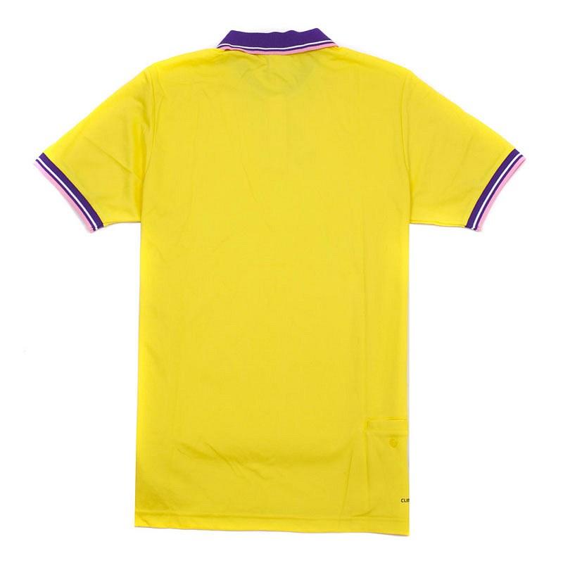 黄色男款短袖广告polo衫加工制作 可印制logo