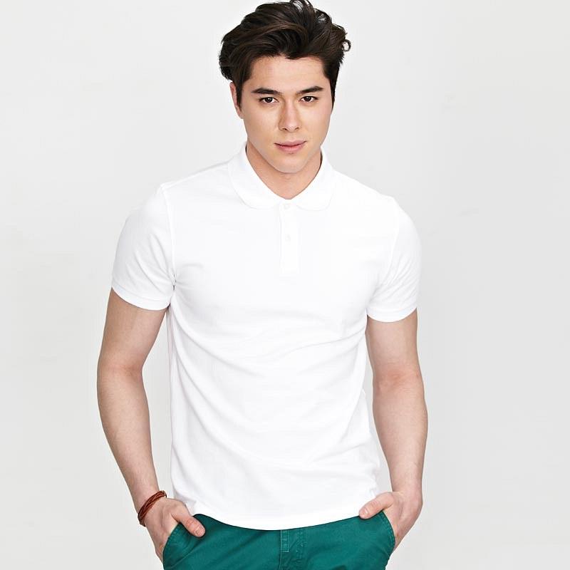 【定制】白色商务polo衫经典重现男士短袖t恤定做
