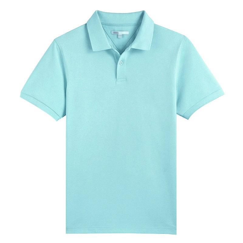 水蓝色POLO衫