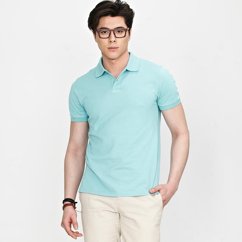 水蓝色男式POLO衫