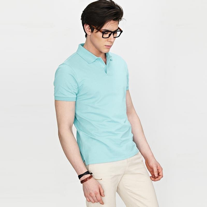 水蓝色男士POLO衫