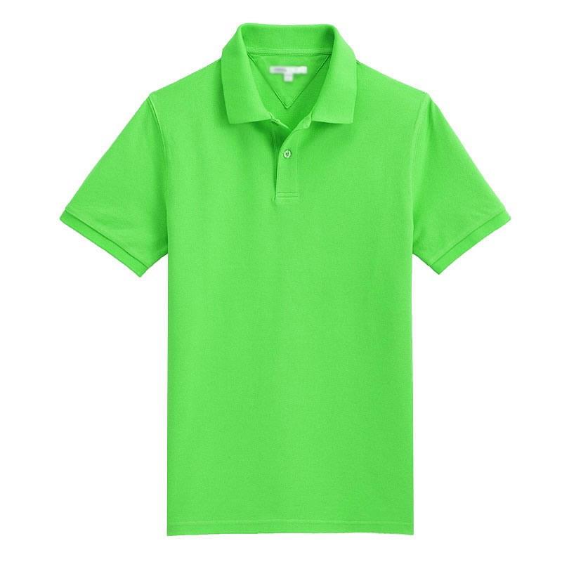 苹果绿POLO衫