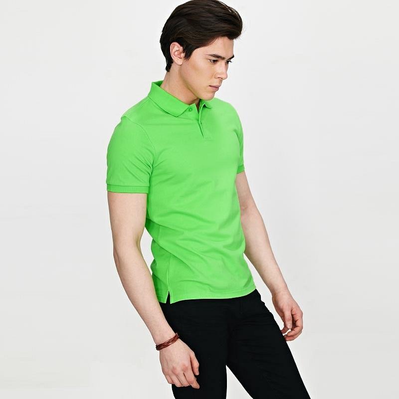苹果绿男士POLO衫