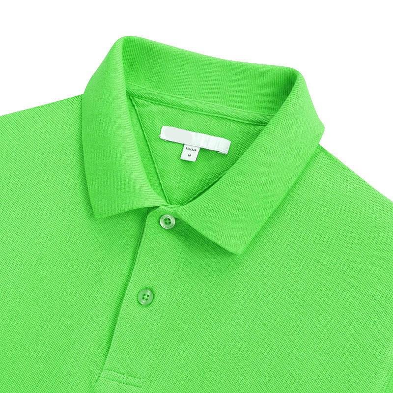 苹果绿翻领T恤衫