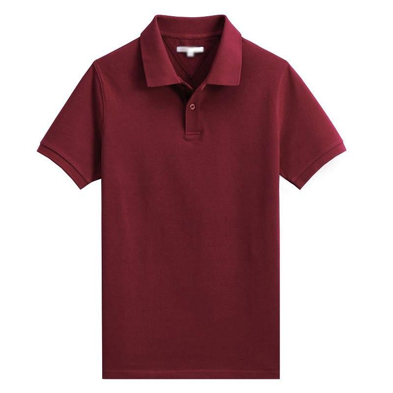 酒红色POLO衫