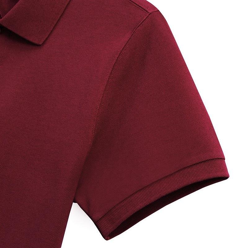 酒红色商务POLO衫