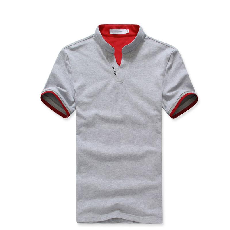 时尚V领男士T恤衫
