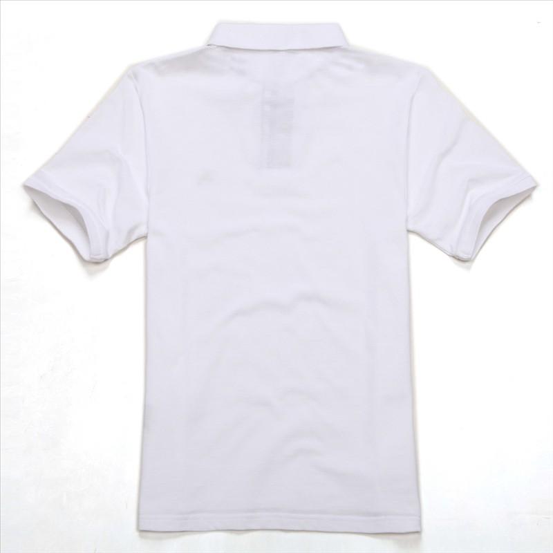 白色POLO衫背面