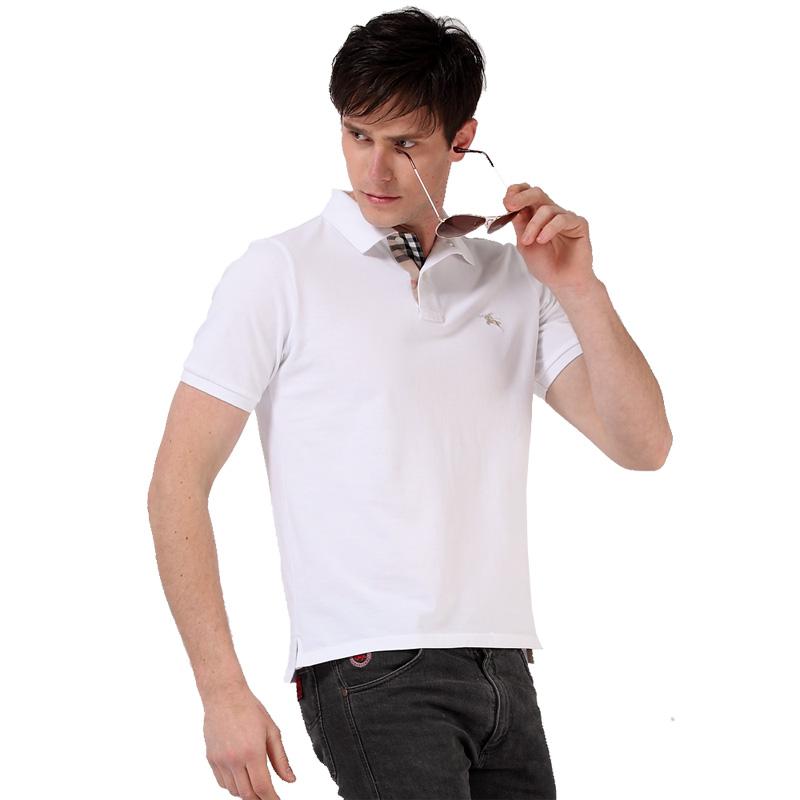 白色男士POLO衫