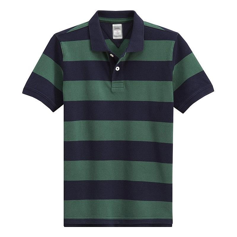 夏季男装时尚条纹t恤衫免费做样