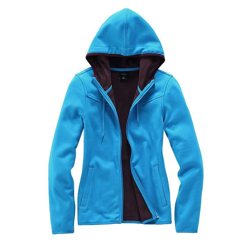 蓝色休闲开衫卫衣