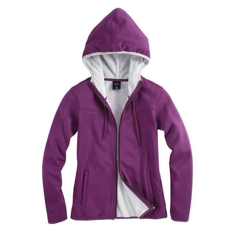 紫色开衫卫衣