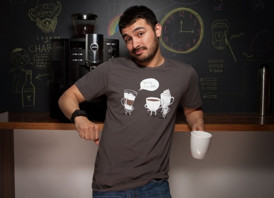 咖啡t恤衫